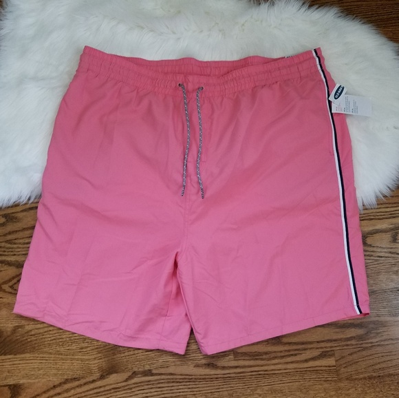 Old Navy Other - NEW coral pink tropical beach vacation swim trunk